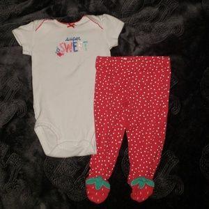 Matching strawberry Set